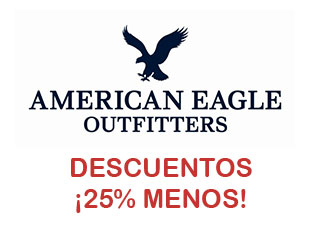 Cupones American Eagle Outfitters, 25% menos