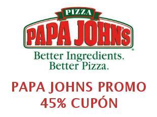 CUPONES DESCUENTO PAPA JOHN